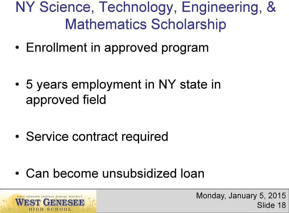 employment in NY state in approved field Service