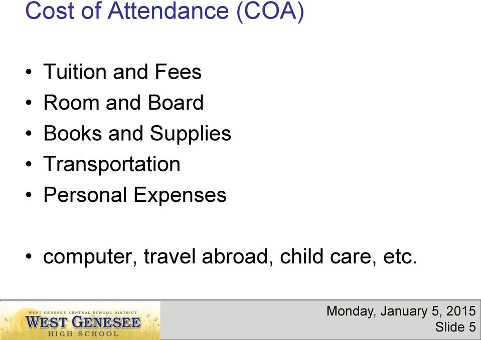 Transportation Personal Expenses