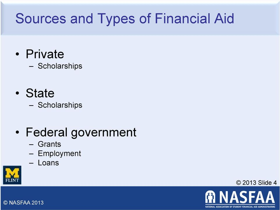 Scholarships Federal government