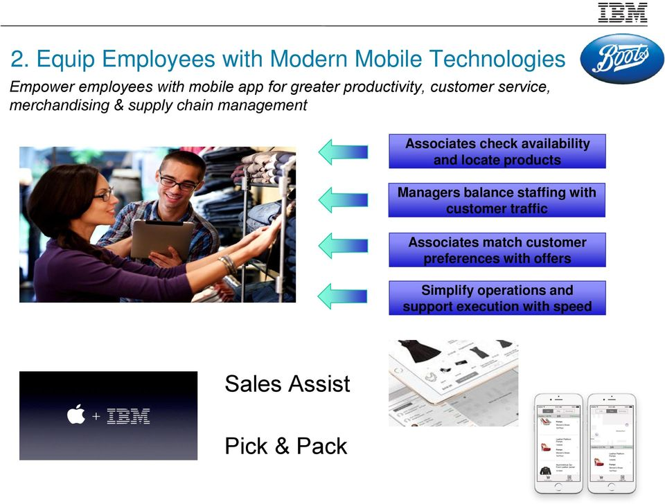 availability and locate products Managers balance staffing with customer traffic Associates match