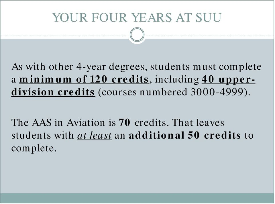 credits (courses numbered 3000-4999).