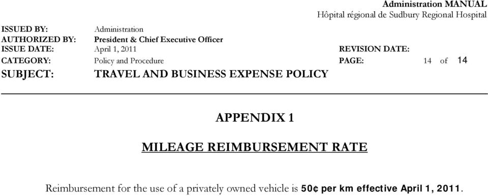 Reimbursement for the use of a privately