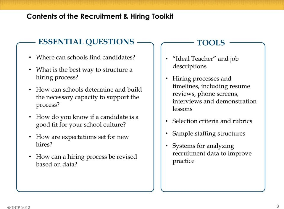 How are expectations set for new hires? How can a hiring process be revised based on data?