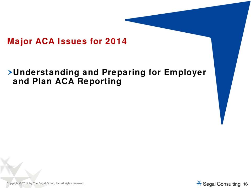 Employer and Plan ACA Reporting