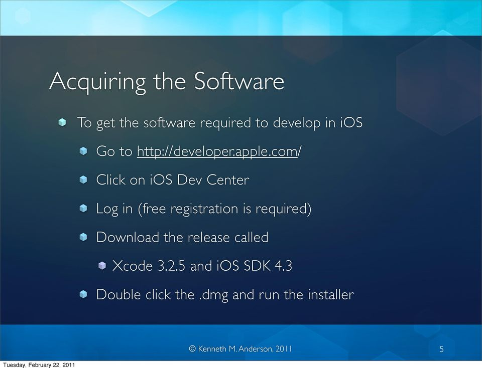 com/ Click on ios Dev Center Log in (free registration is