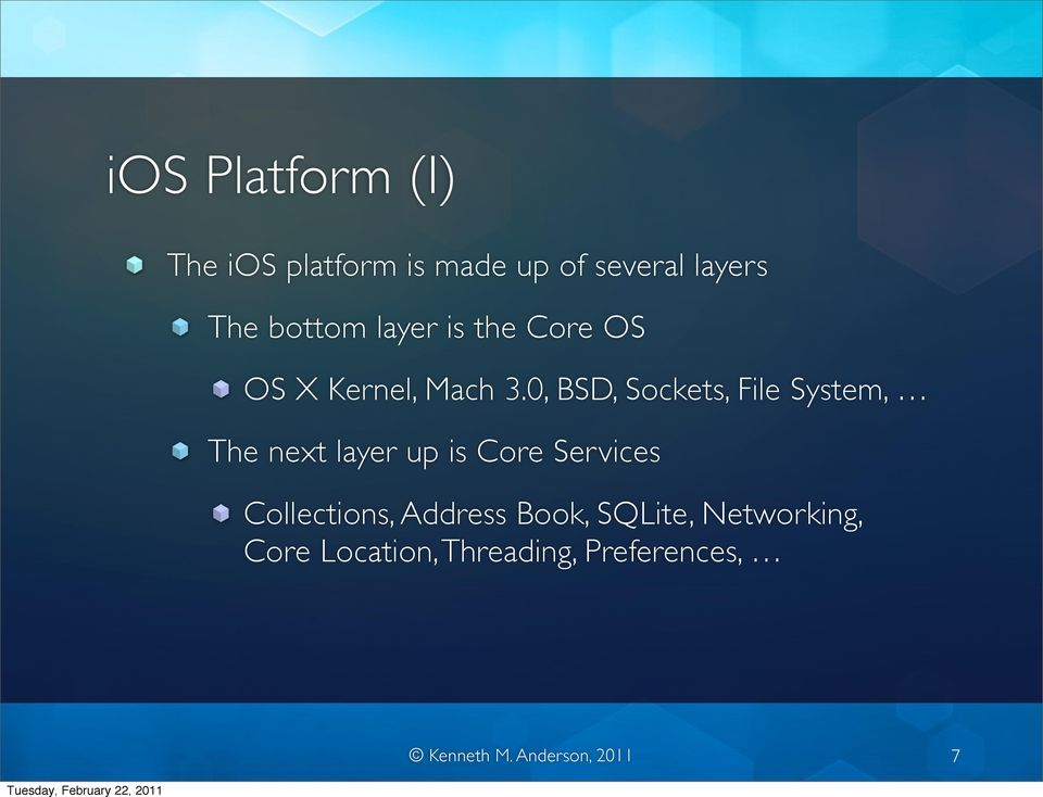0, BSD, Sockets, File System, The next layer up is Core Services