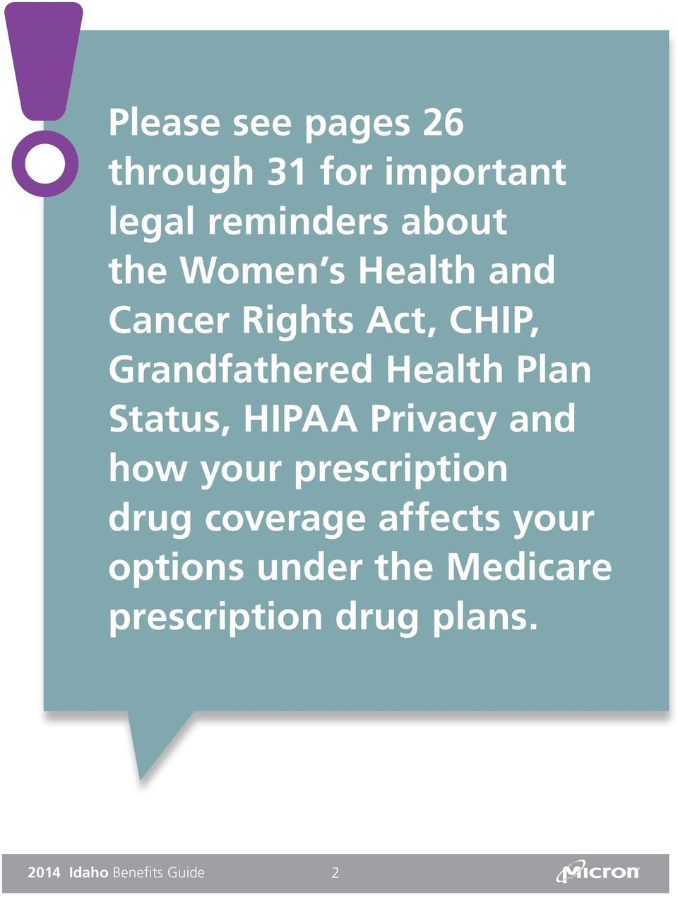Status, HIPAA Privacy and how your prescription drug coverage affects