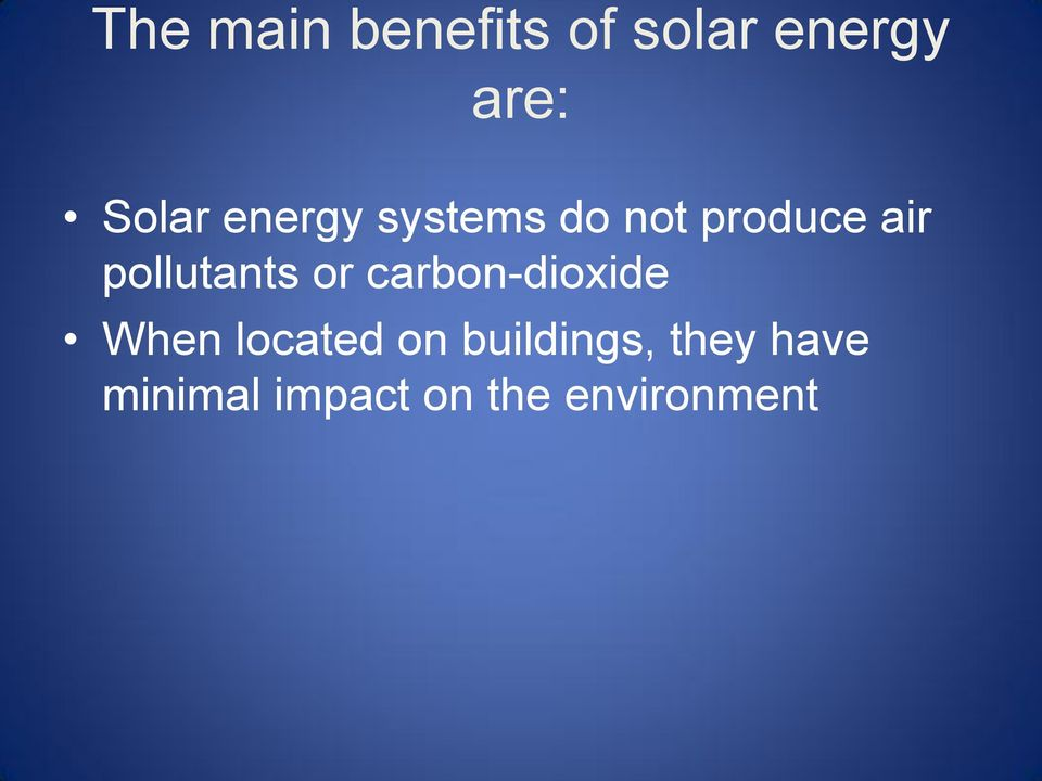 or carbon-dioxide When located on buildings,
