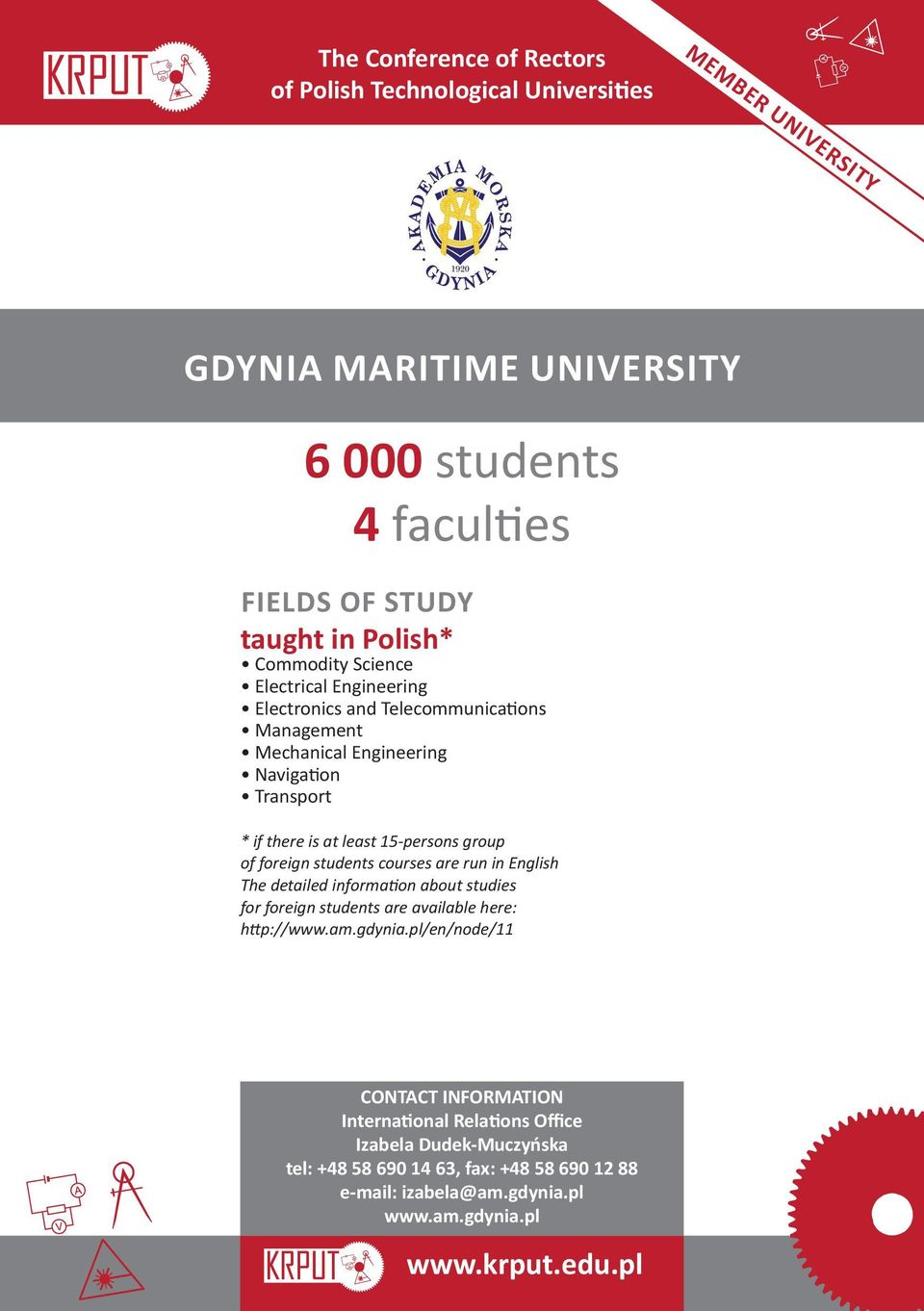 information about studies for foreign students are available here: http://www.am.gdynia.