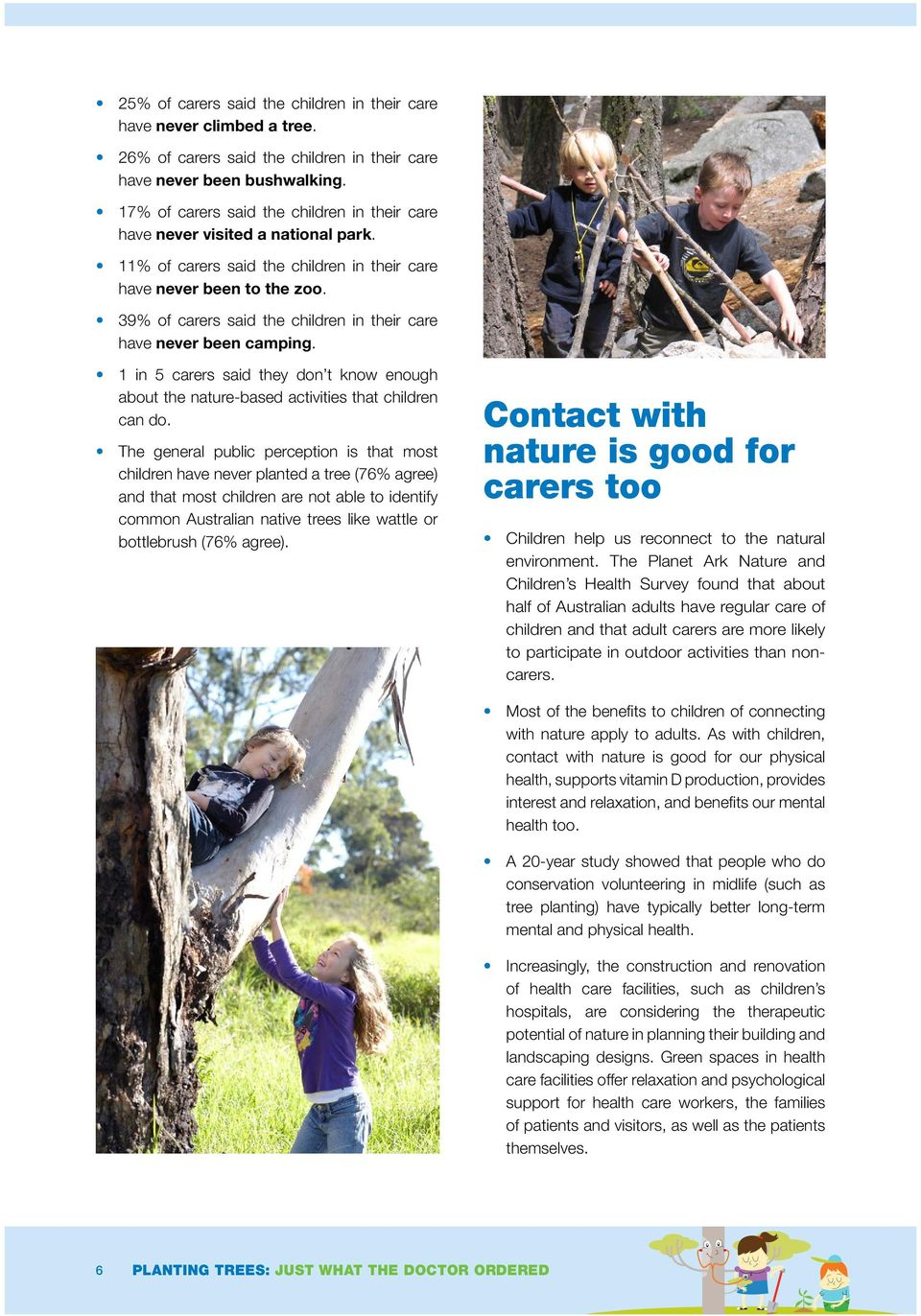 1 in 5 carers said they don t know enough about the nature-based activities that children can do.