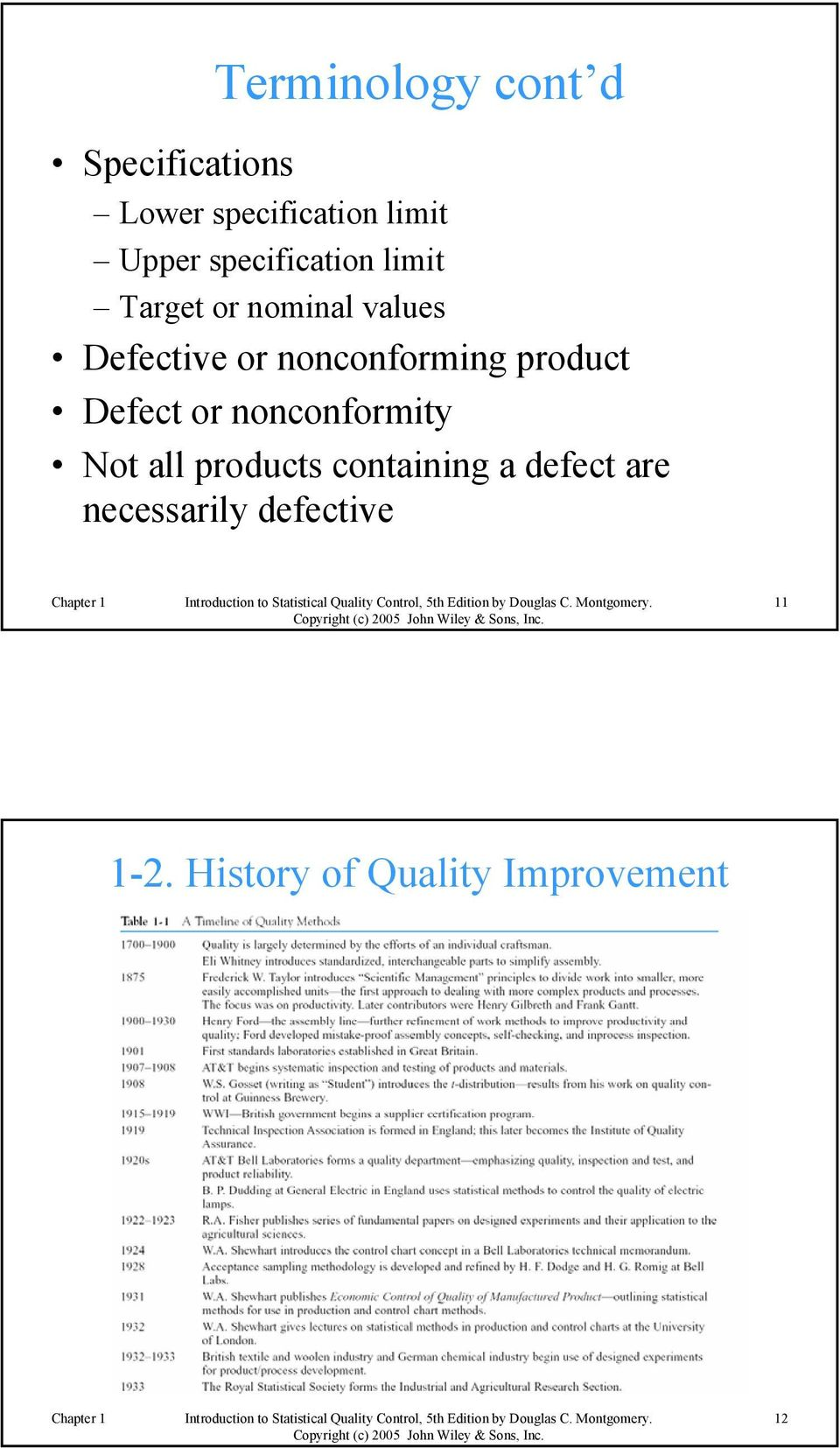 nonconforming product Defect or nonconformity Not all products