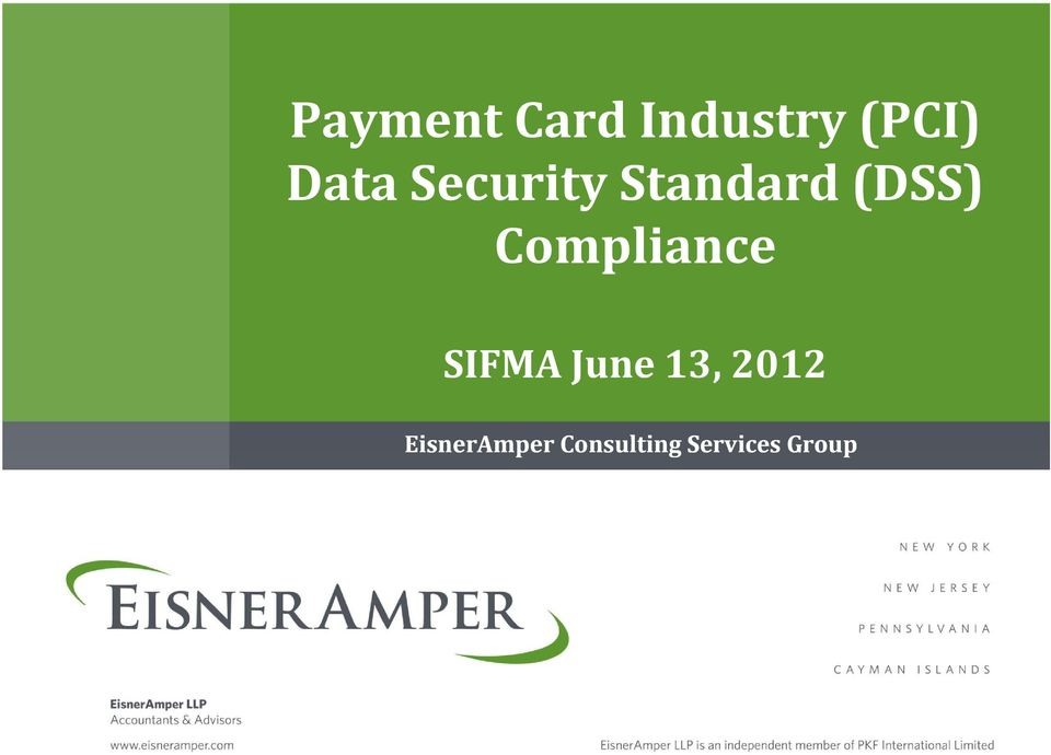 Compliance SIFMA June 13, 2012