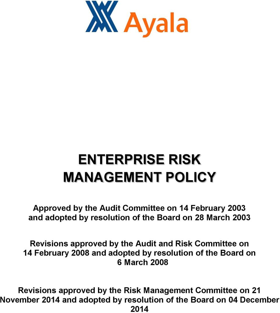 February 2008 and adopted by resolution of the Board on 6 March 2008 Revisions approved by the