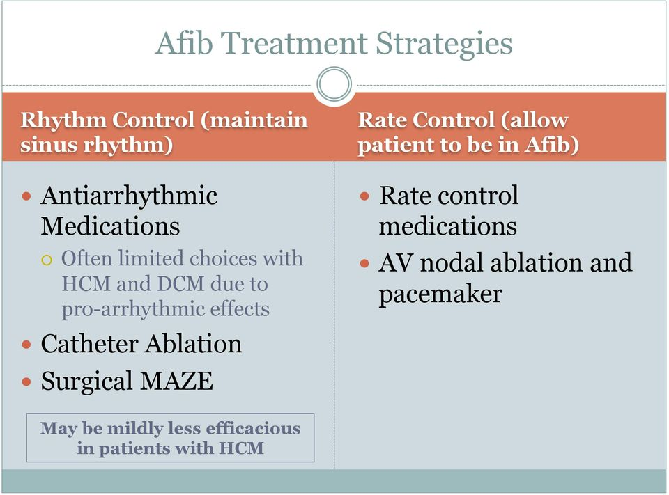 Catheter Ablation Surgical MAZE Rate Control (allow patient to be in Afib) Rate