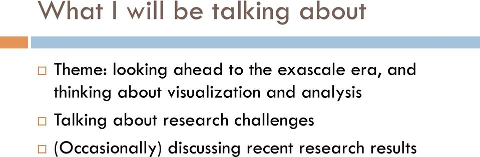 visualization and analysis Talking about research