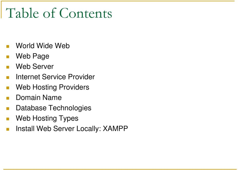 Providers Domain Name Database Technologies