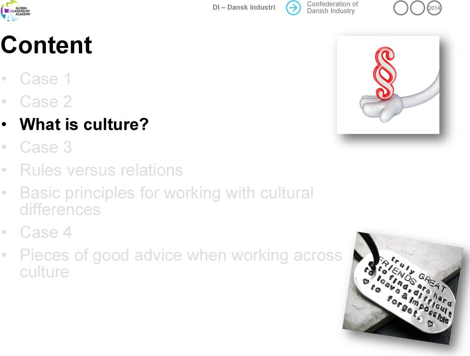 principles for working with cultural