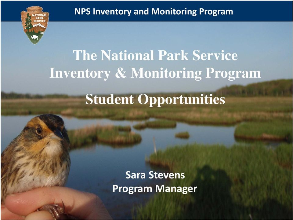 Inventory & Monitoring Program
