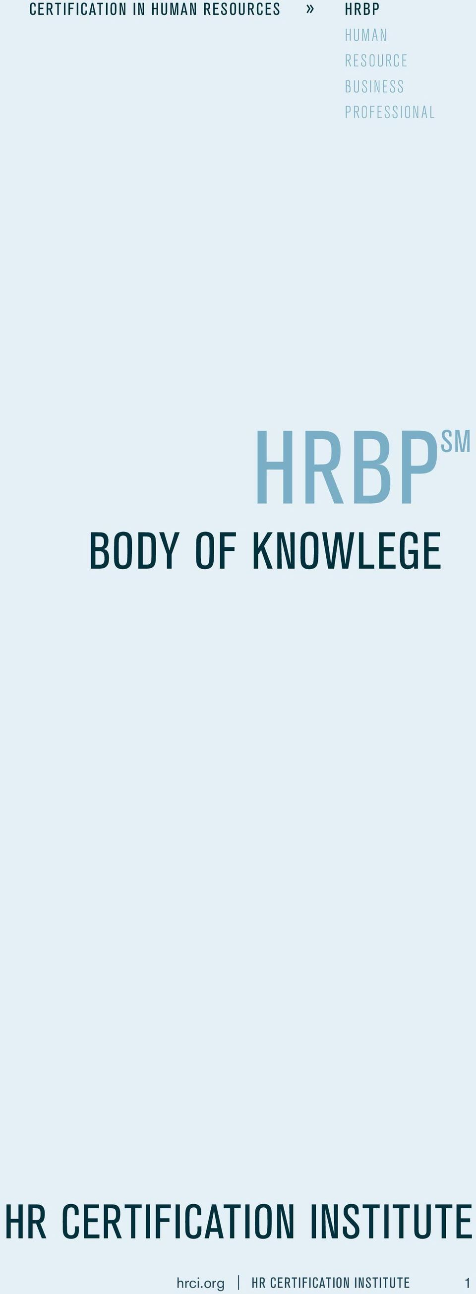 SM body OF KNOWLEGE HR certification