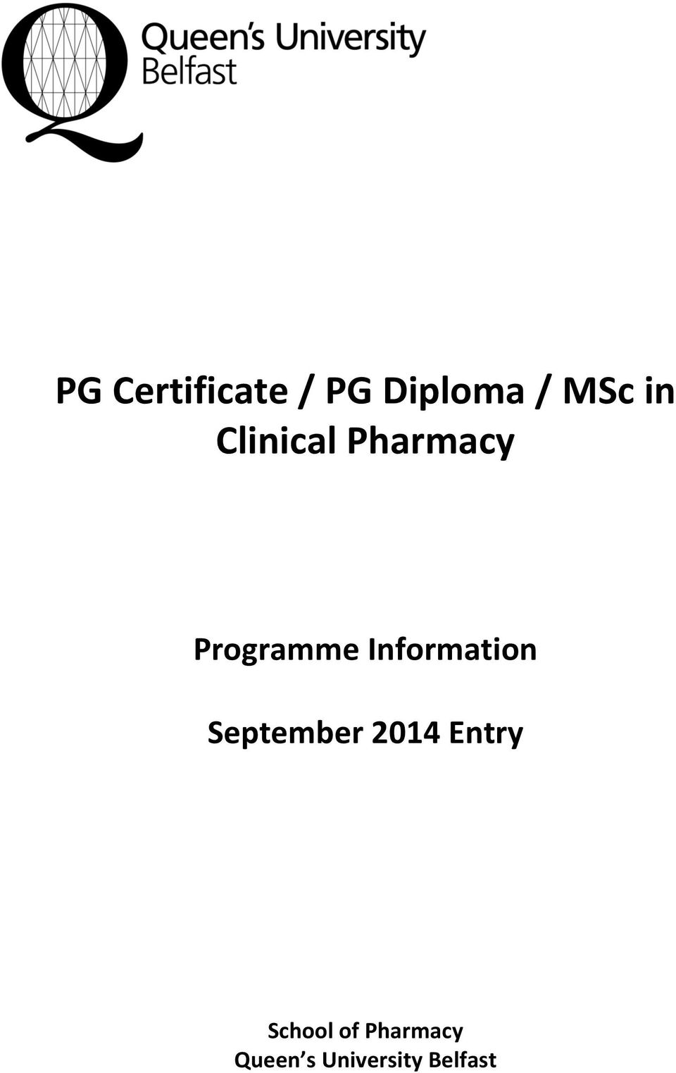 Information September 2014 Entry
