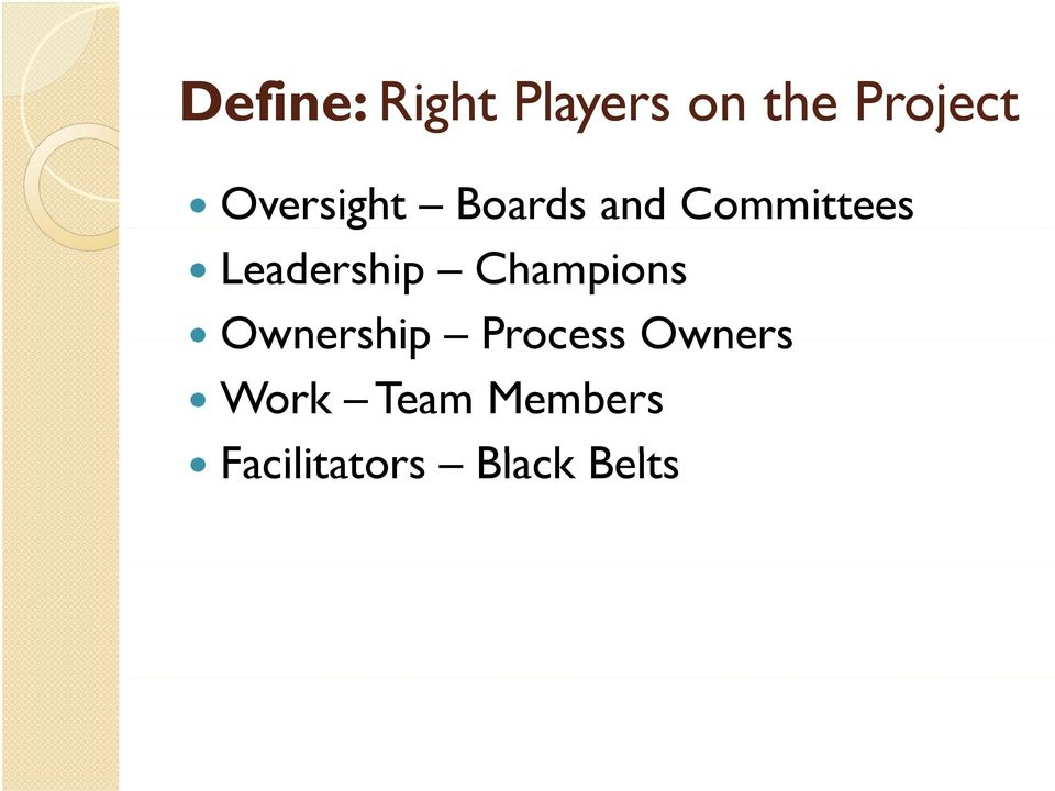 Leadership Champions Ownership Process