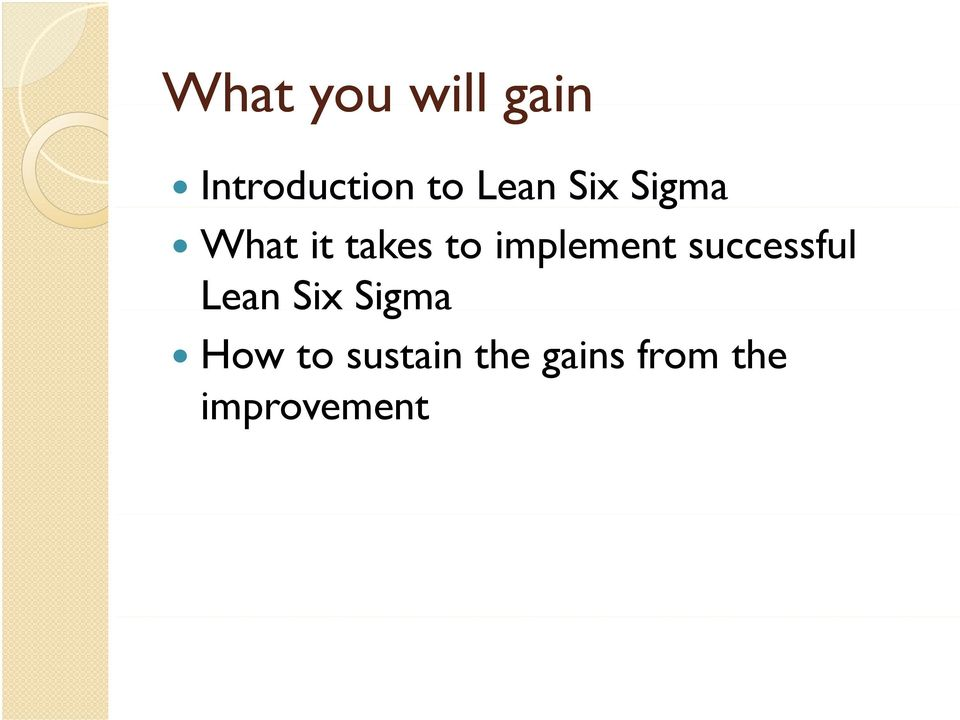 implement successful Lean Six Sigma