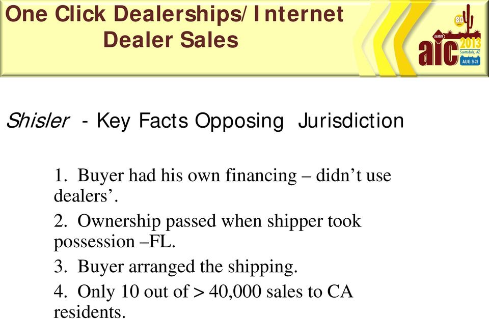 Ownership passed when shipper took possession FL. 3.