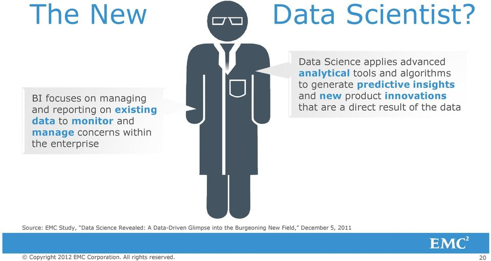 enterprise Data Science applies advanced analytical tools and algorithms to generate predictive