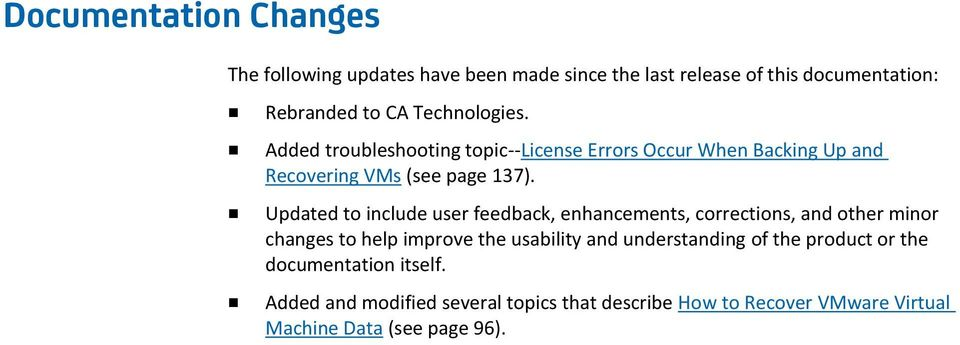 Updated to include user feedback, enhancements, corrections, and other minor changes to help improve the usability and