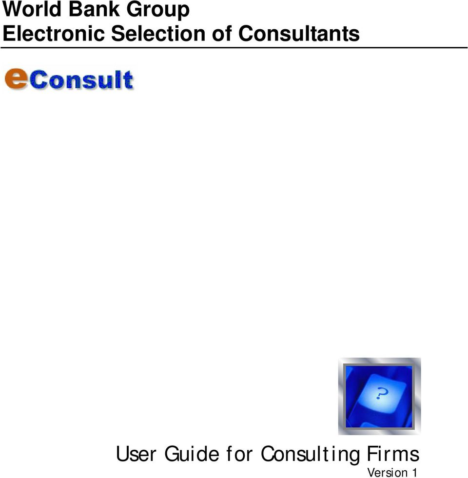 Consultants User Guide