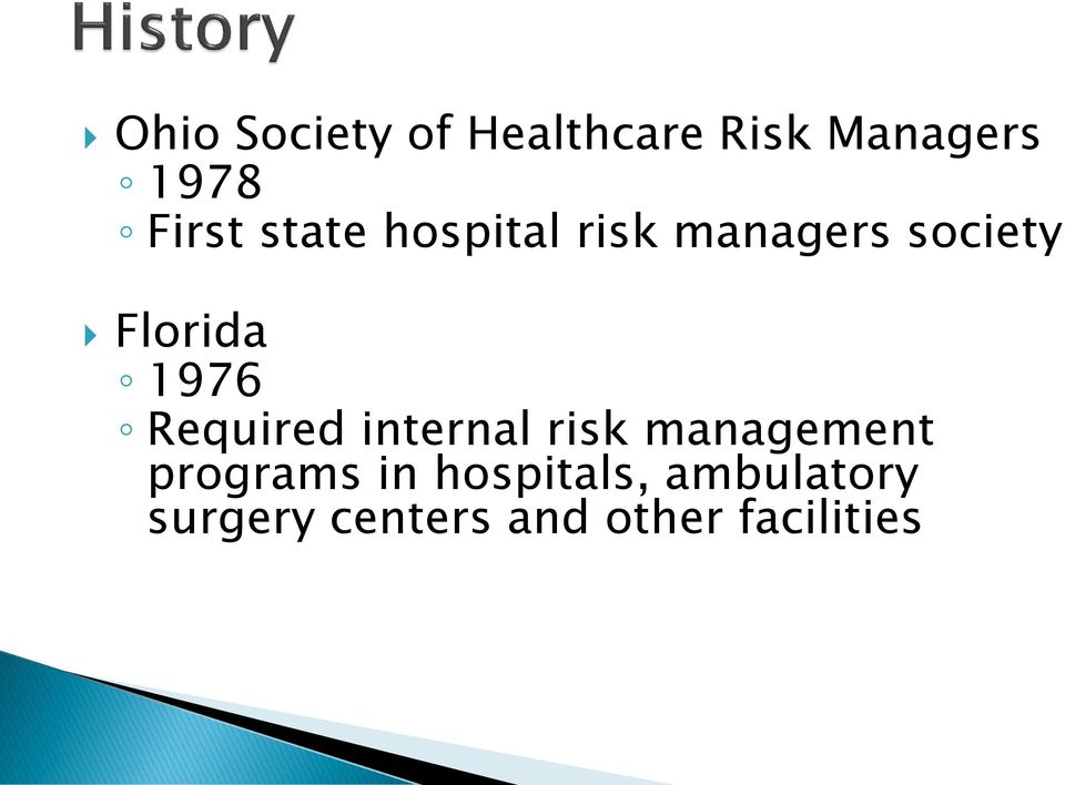 Required internal risk management programs in