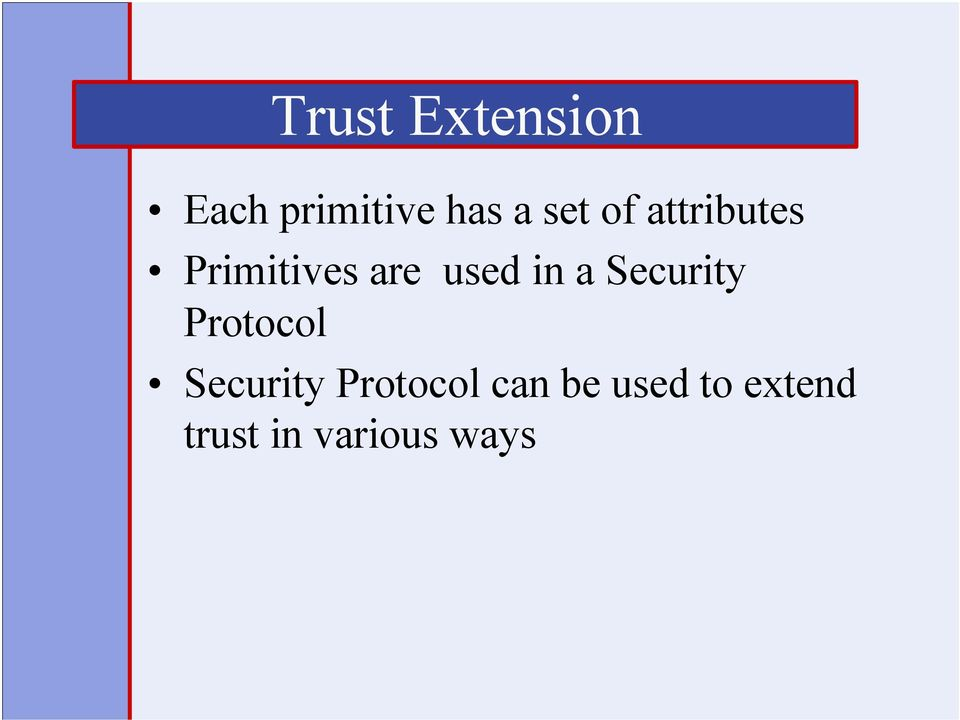 in a Security Protocol Security