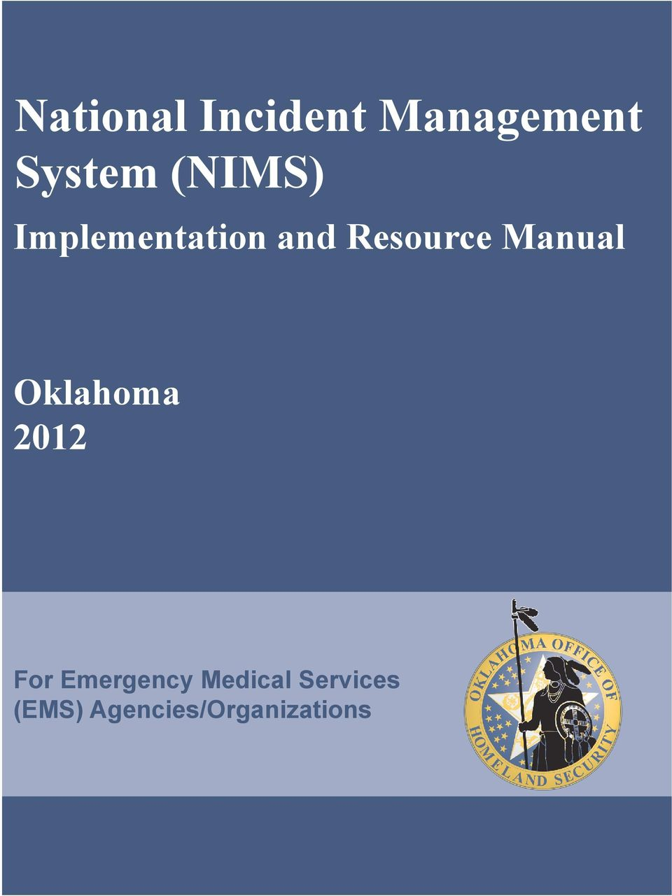 Manual Oklahoma 2012 For Emergency
