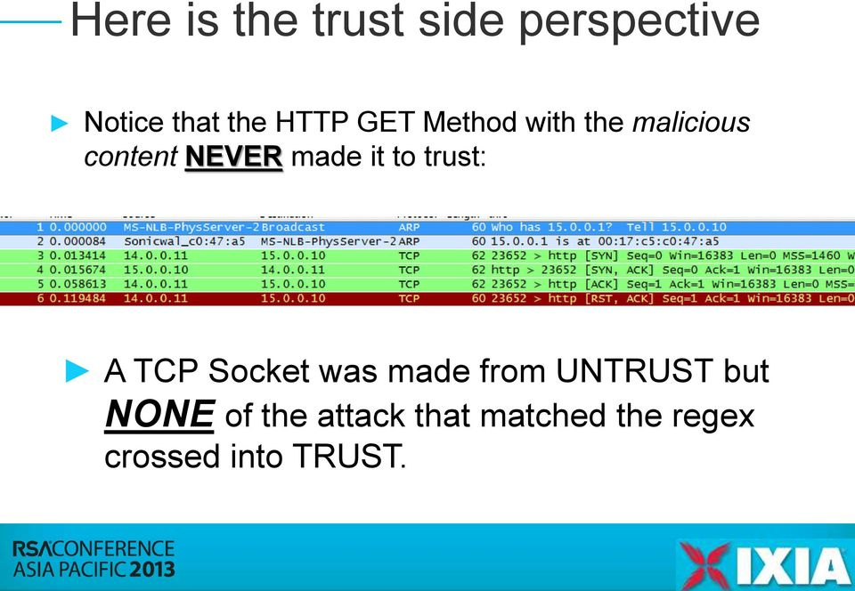 it to trust: A TCP Socket was made from UNTRUST but