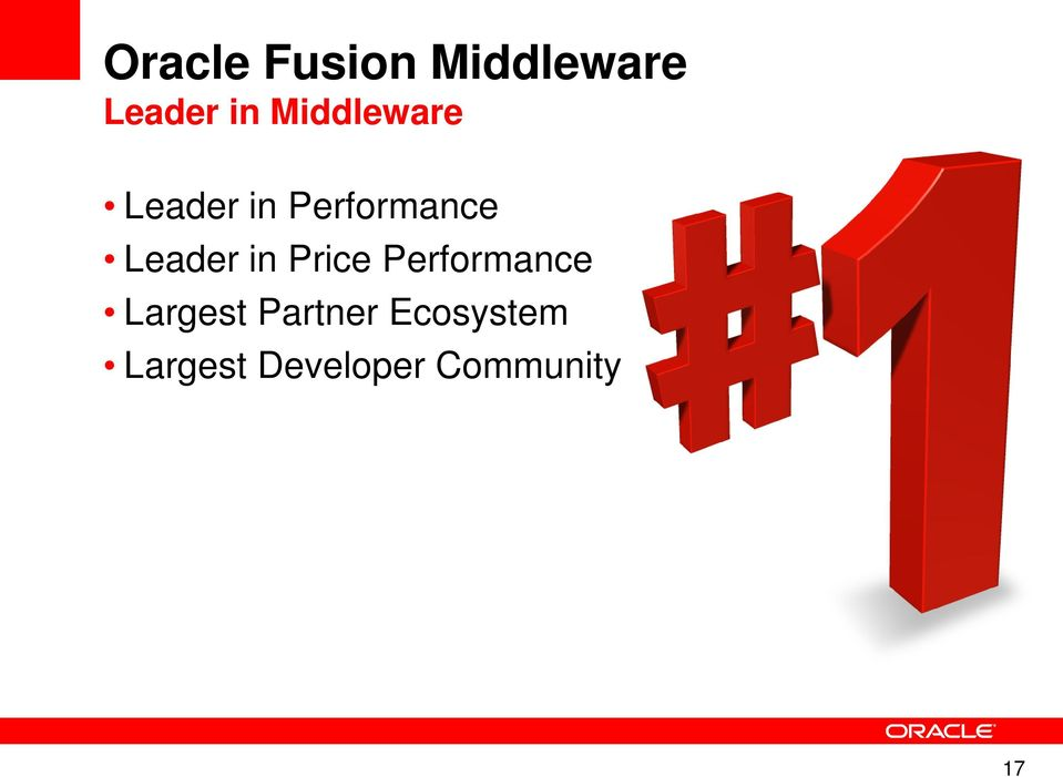 Leader in Price Performance Largest