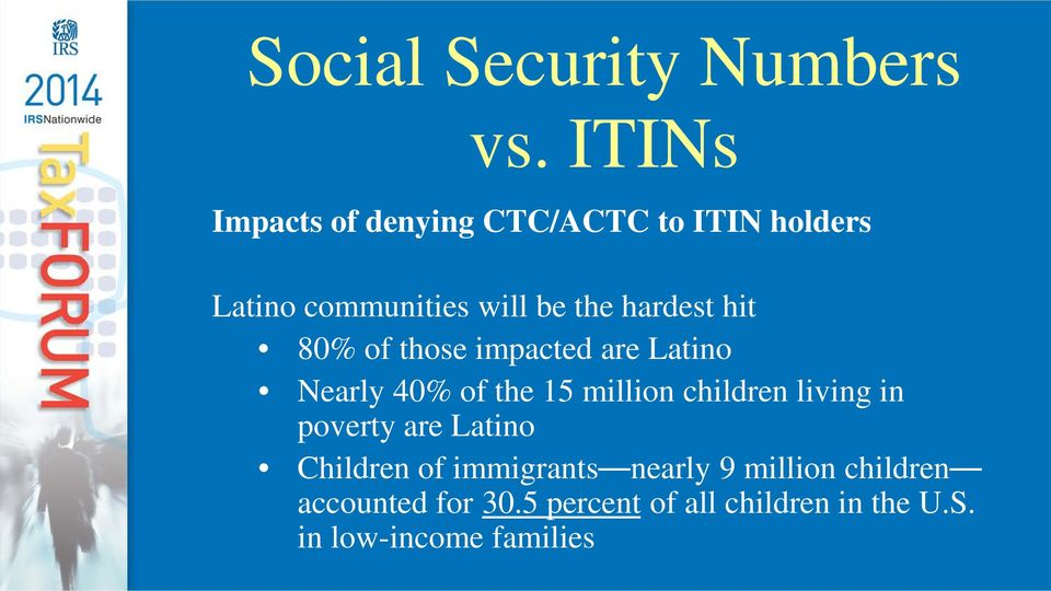 hardest hit 80% of those impacted are Latino Nearly 40% of the 15 million children