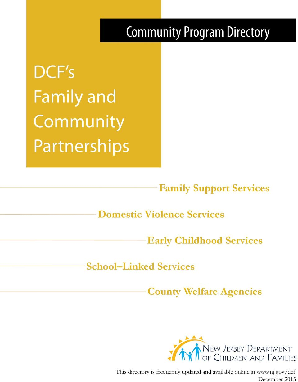 Services School Linked Services County Welfare Agencies This