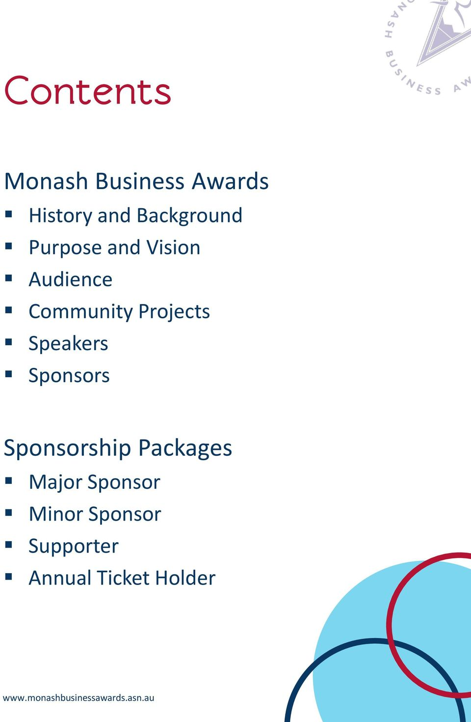 Projects Speakers Sponsors Sponsorship Packages