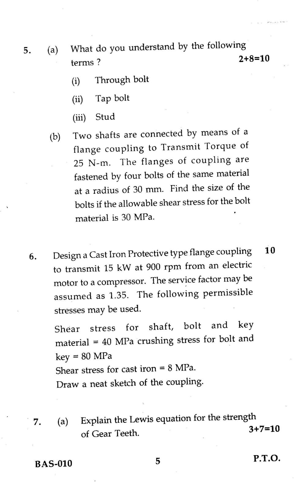 Design a Cast Iron Protective type flange coupling 10 to transmit 15 kw at 900 rpm from an electric motor to a compressor. The service factor may be assumed as 1.35.