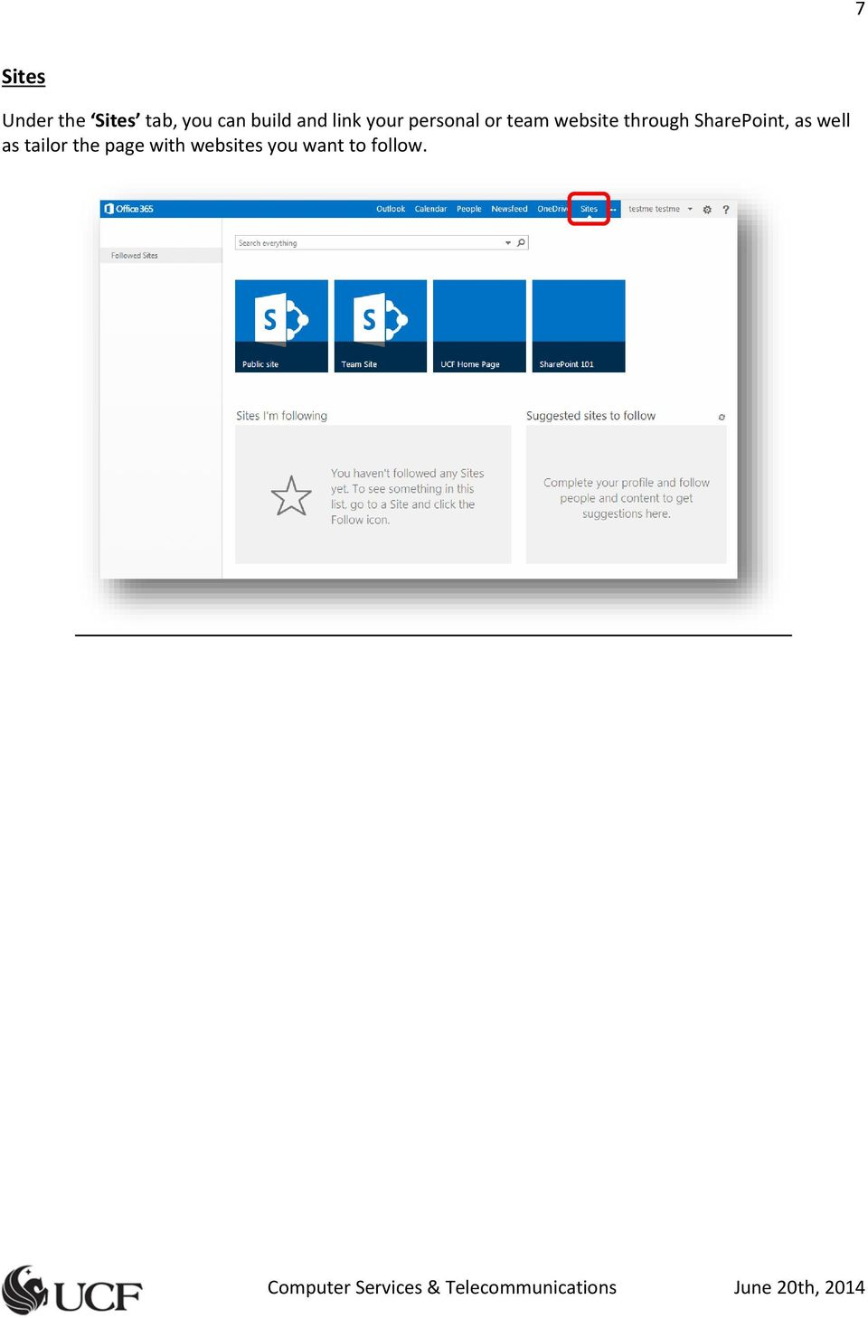 website through SharePoint, as well as