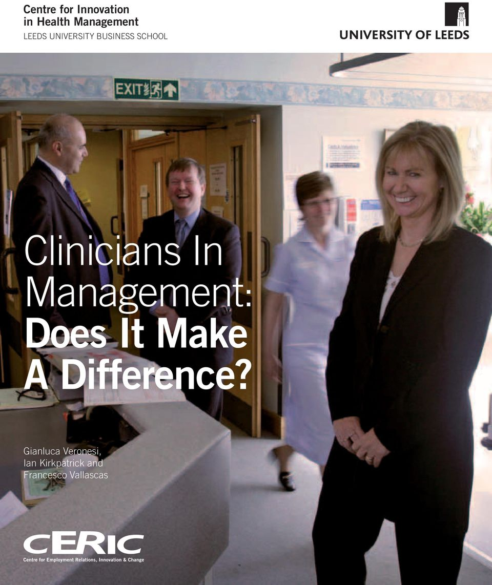 Management: Does It Make A Difference?