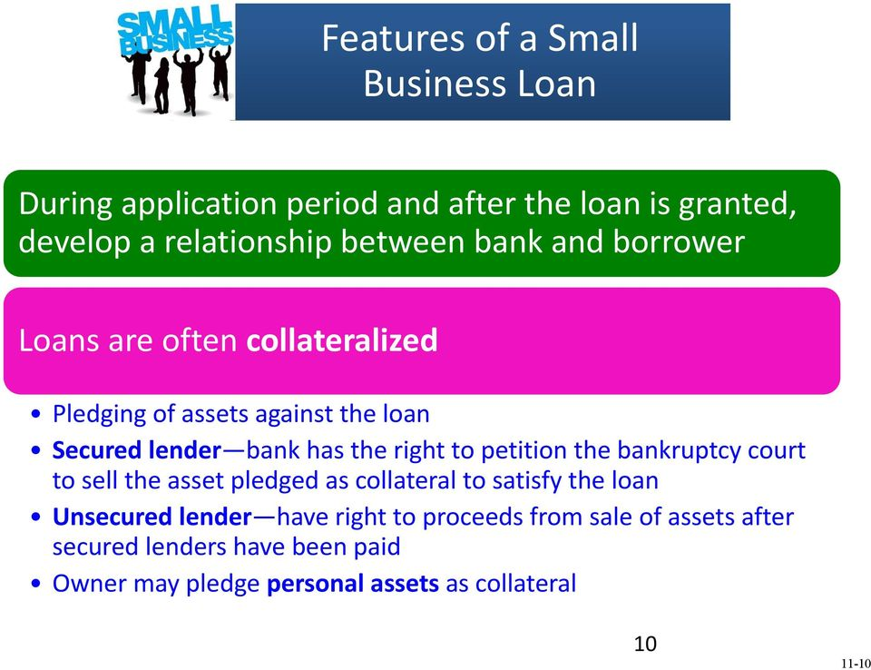 petition the bankruptcy court to sell the asset pledged as collateral to satisfy the loan Unsecured lender have right to