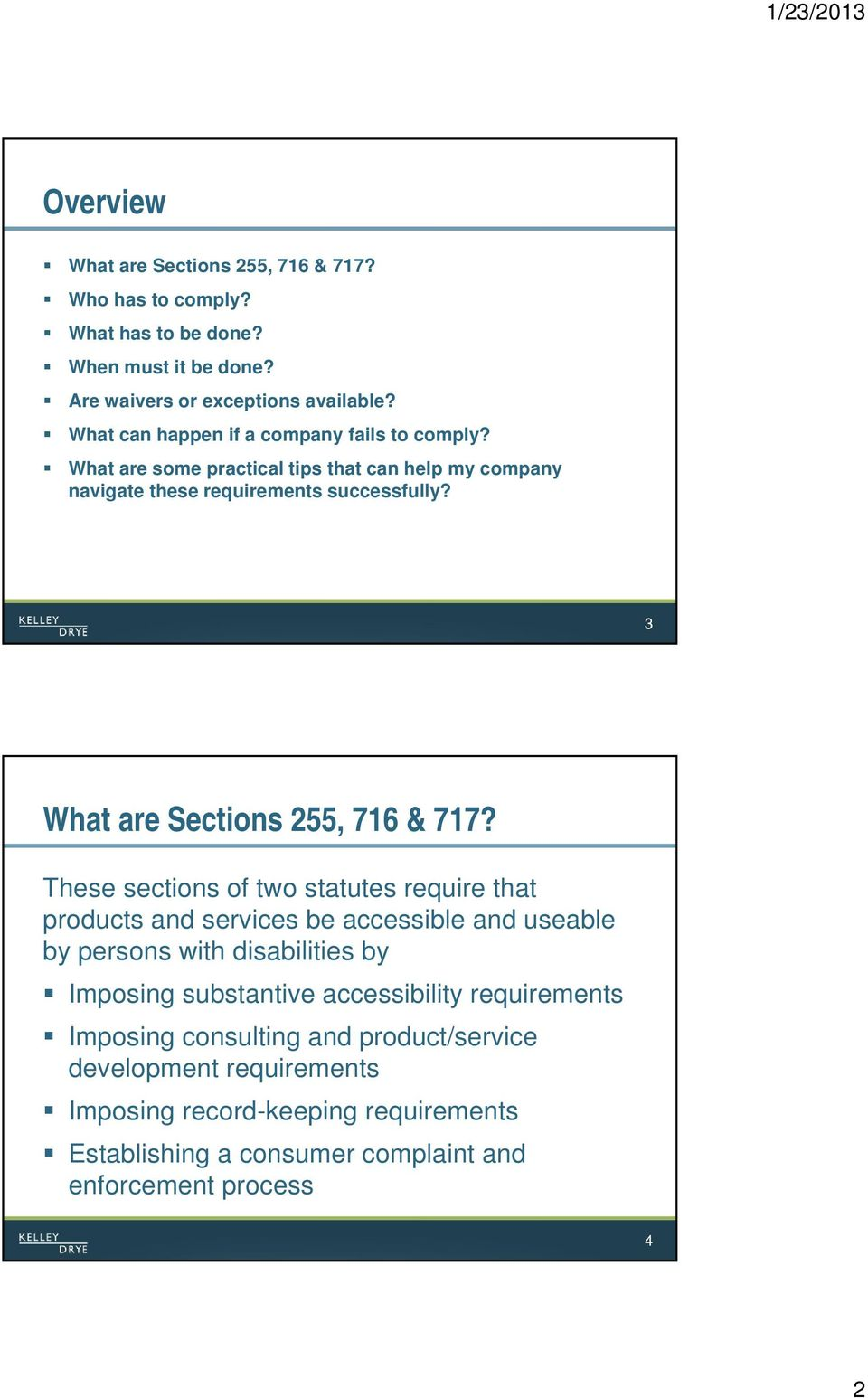 3 What are Sections 255, 716 & 717?