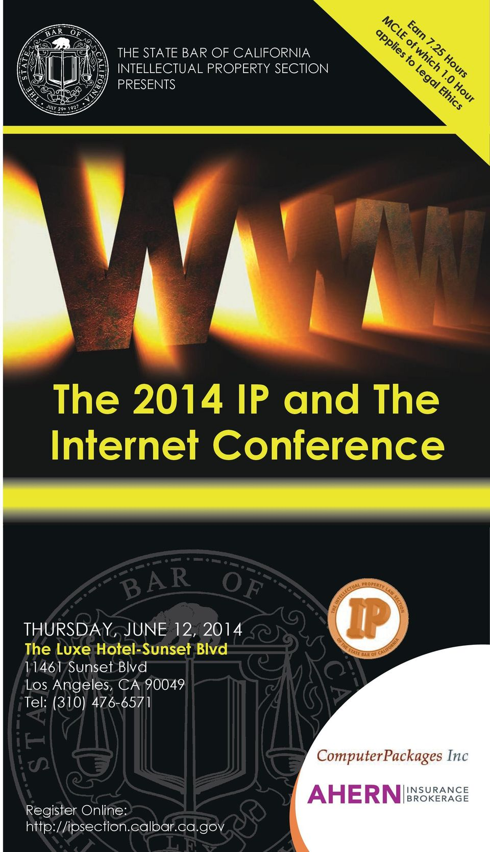 section Presents The 2014 IP and The Internet Conference Thursday, June 12, 2014
