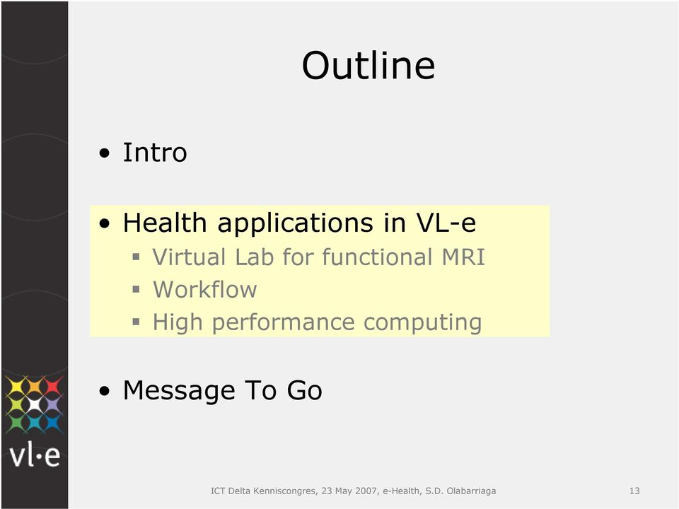 performance computing Message To Go ICT Delta
