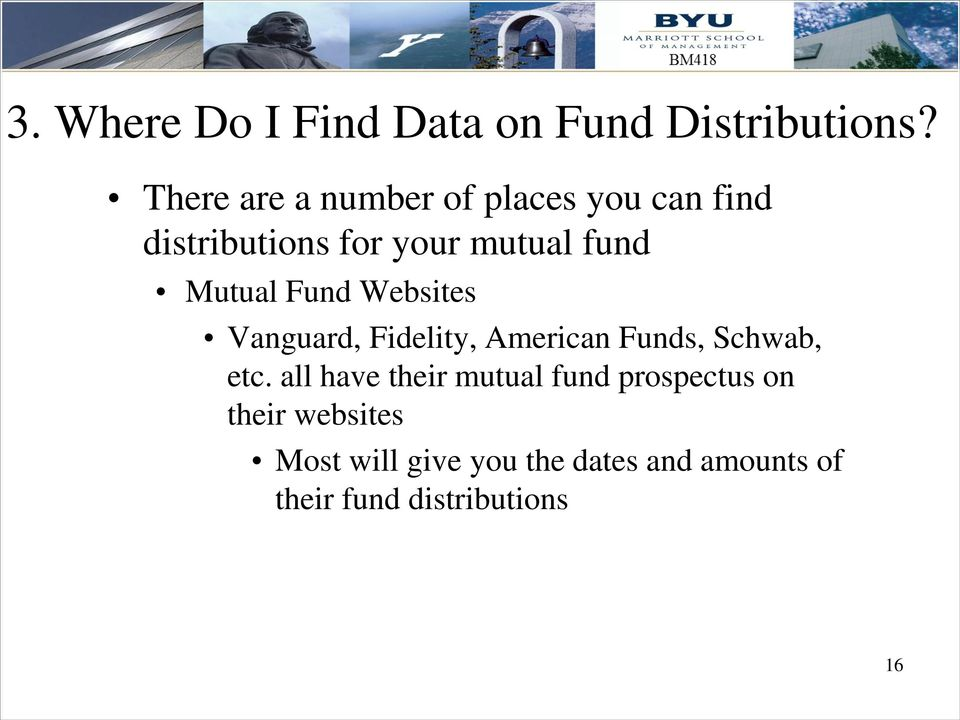 Mutual Fund Websites Vanguard, Fidelity, American Funds, Schwab, etc.