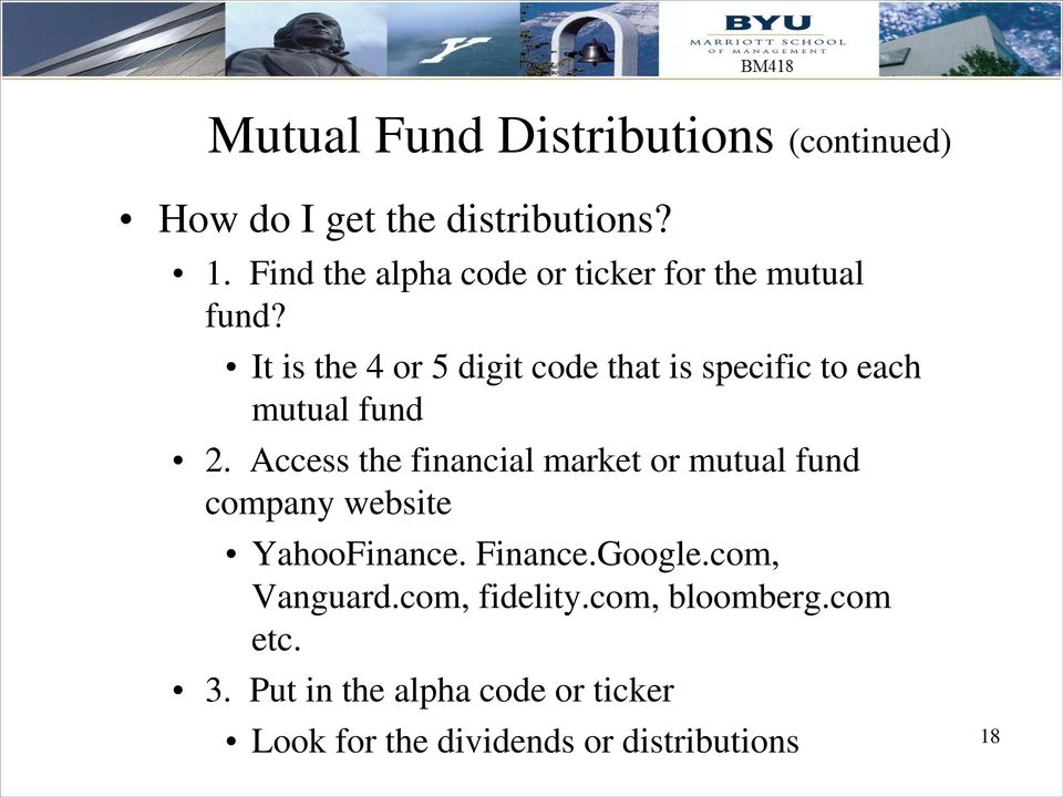 It is the 4 or 5 digit code that is specific to each mutual fund 2.
