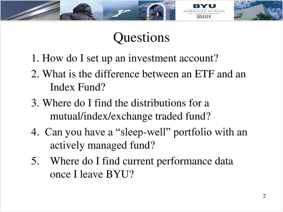 Where do I find the distributions for a mutual/index/exchange traded fund? 4.