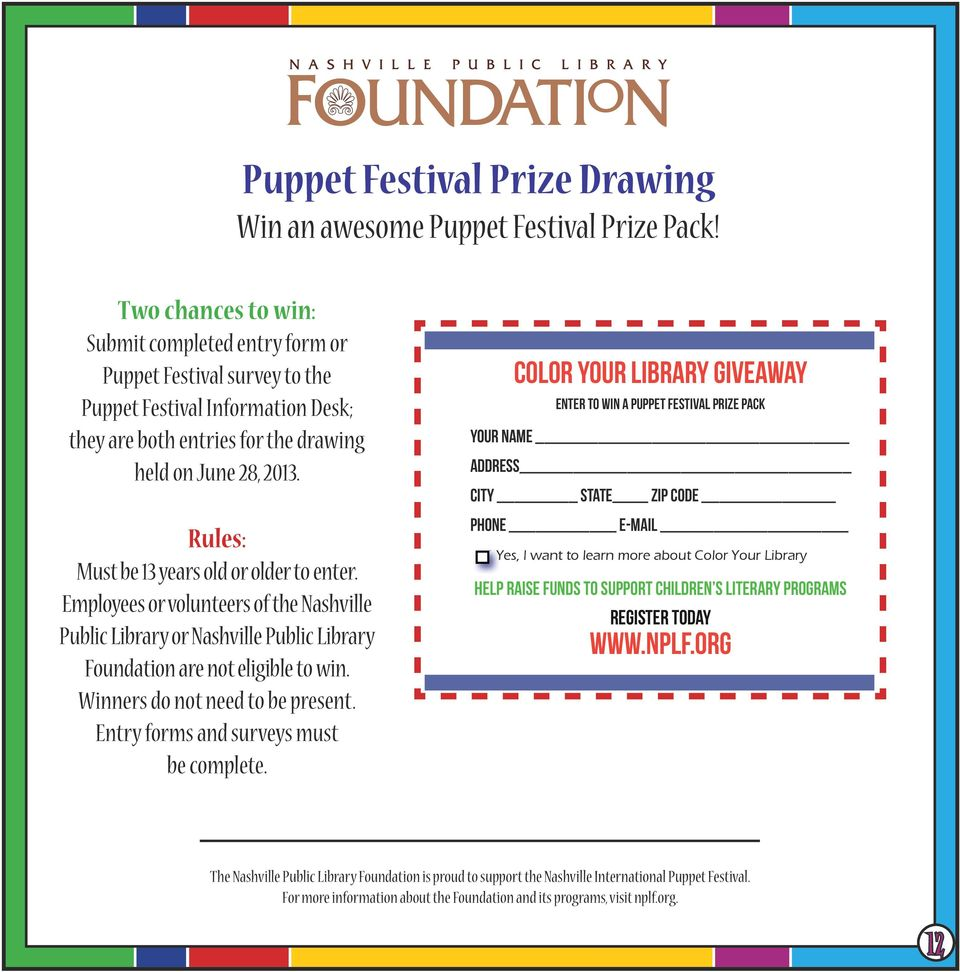 Win an awesome Puppet Festival Prize Pack!