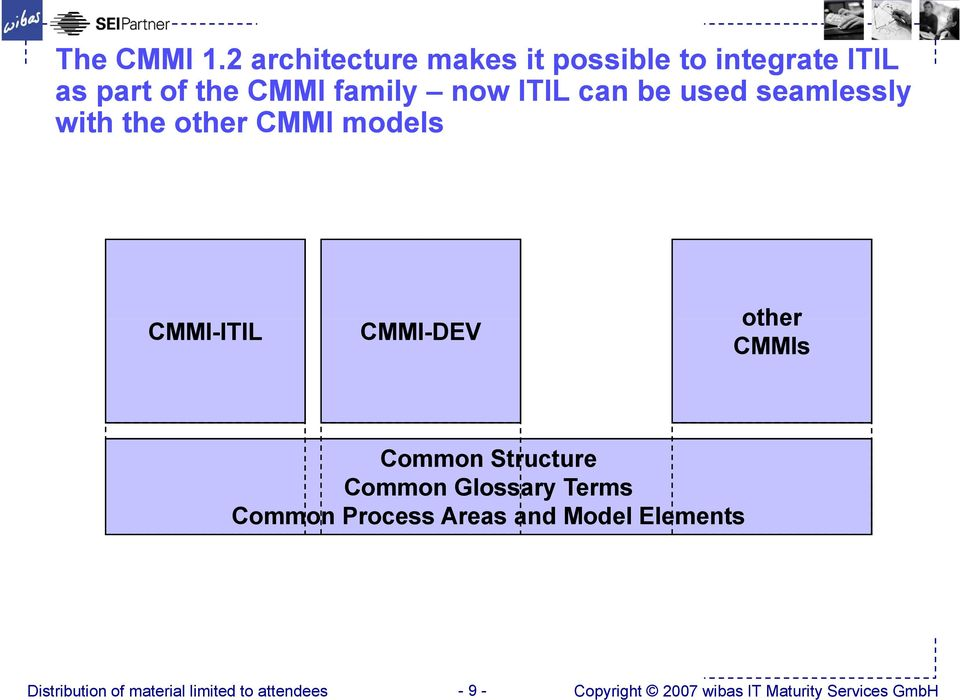 family now ITIL can be used seamlessly with the other CMMI models CMMI-ITIL